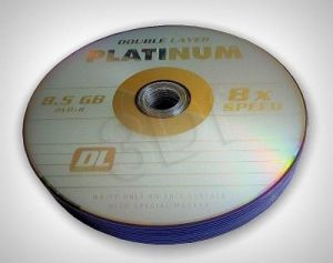DVD+R PLATINUM 8,5 GB 8X DOUBLE LAYER SHRINK 10SZT
