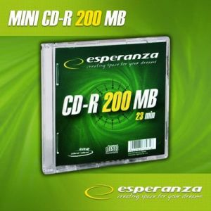 CD-R MINI DISC ESPERANZA 200MB/23min.8cm Slim 1szt.