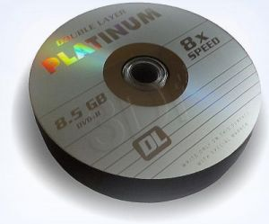 DVD+R PLATINUM 8,5GB X8 DOUBLE LAYER SHRINK 25SZT