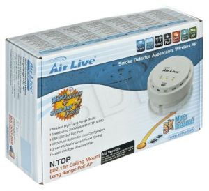 Access Point AIRLIVE N.TOP PoE 802.3af, 802.11b/g/n - 300Mbps, 27dBm, High Power (sufitowy)