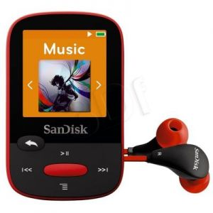SANDISK MP3 SANSA CLIP SPORTS 4GB CZERWONA