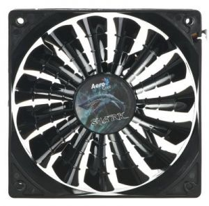 WENTYLATOR AEROCOOL SHARK FAN BLACK - 120x120x25mm